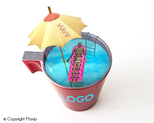 Tasse personnalisable avec logo transparent Mavip