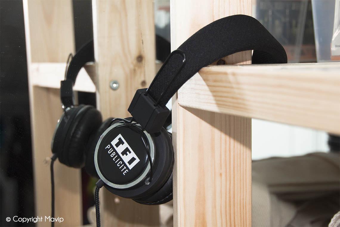 Casque audio réalisés pour TF1 par Mavip
