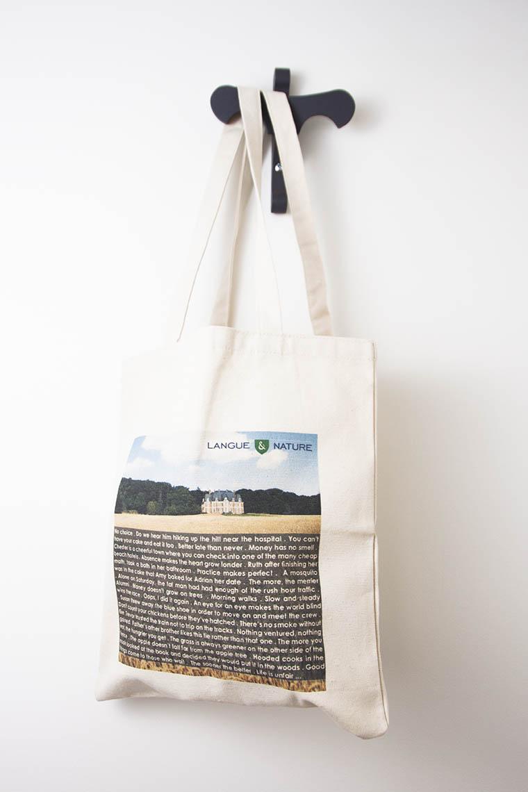 Tote bag publicitaire avec logo quadri numérique sérigraphie