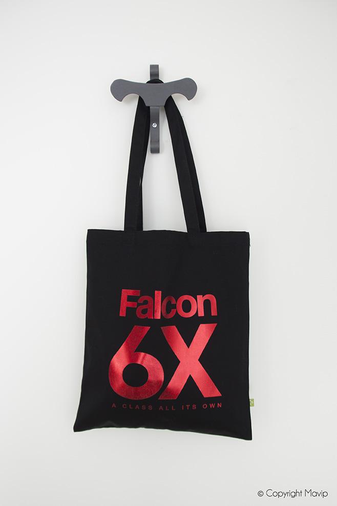 Tote bag sac shopping personnalisés avec logo Falcon 6x
