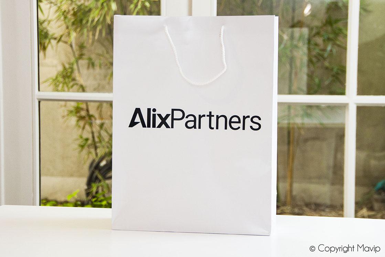 Sac en papier personnalisable avec logo Alix Partners par Mavip