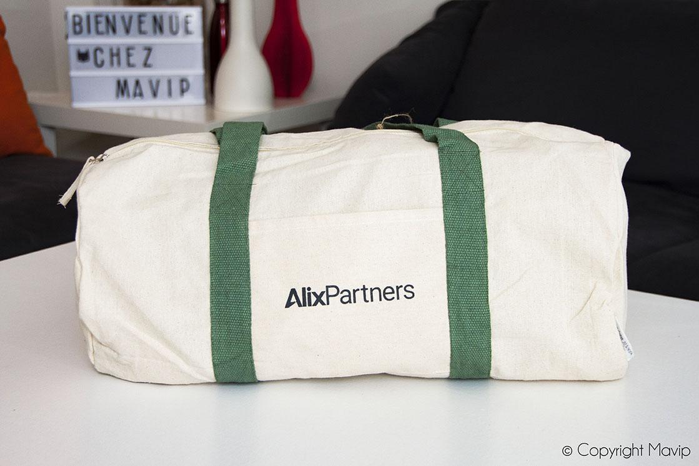 Sac personnalisé avec logo Alix Partners par Mavip