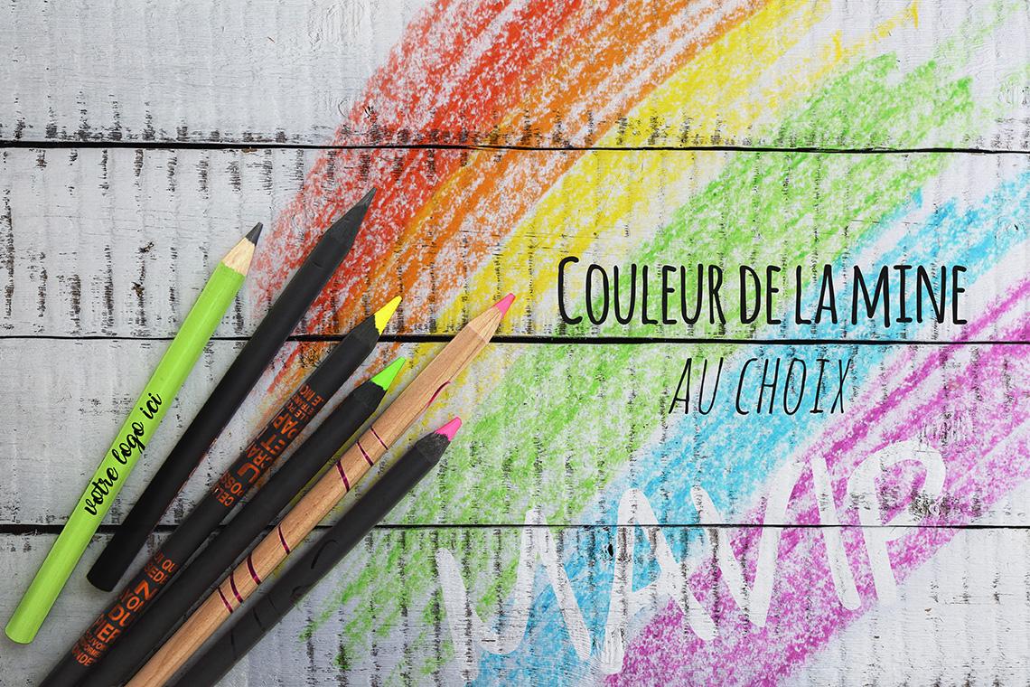 Crayons de papier et crayon de couleurs personnalisés avec logo