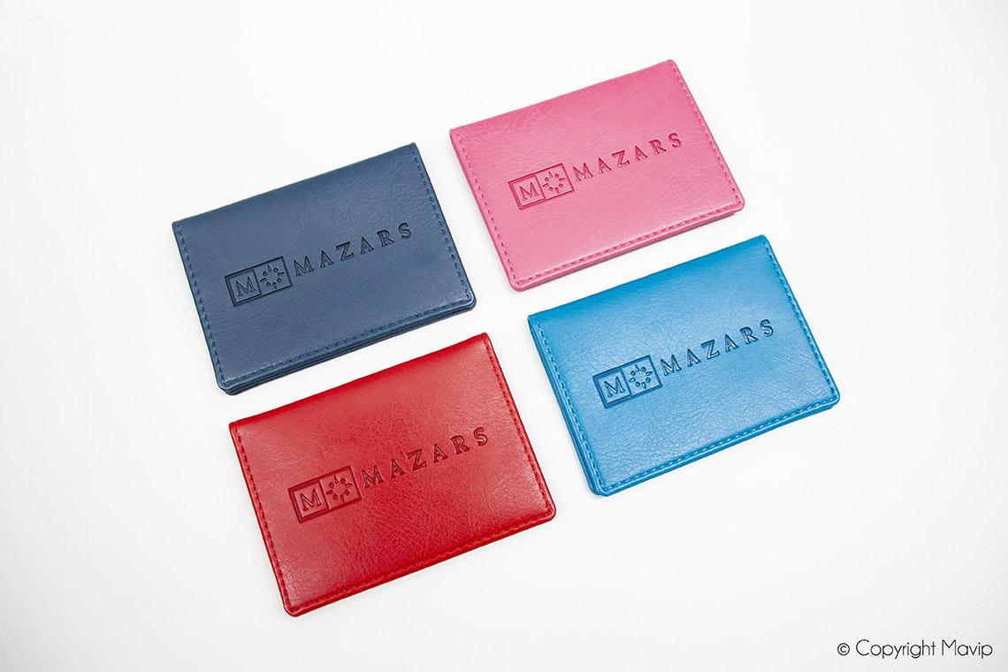 porte-cartes personnalisées avec logo Mazars par Mavip
