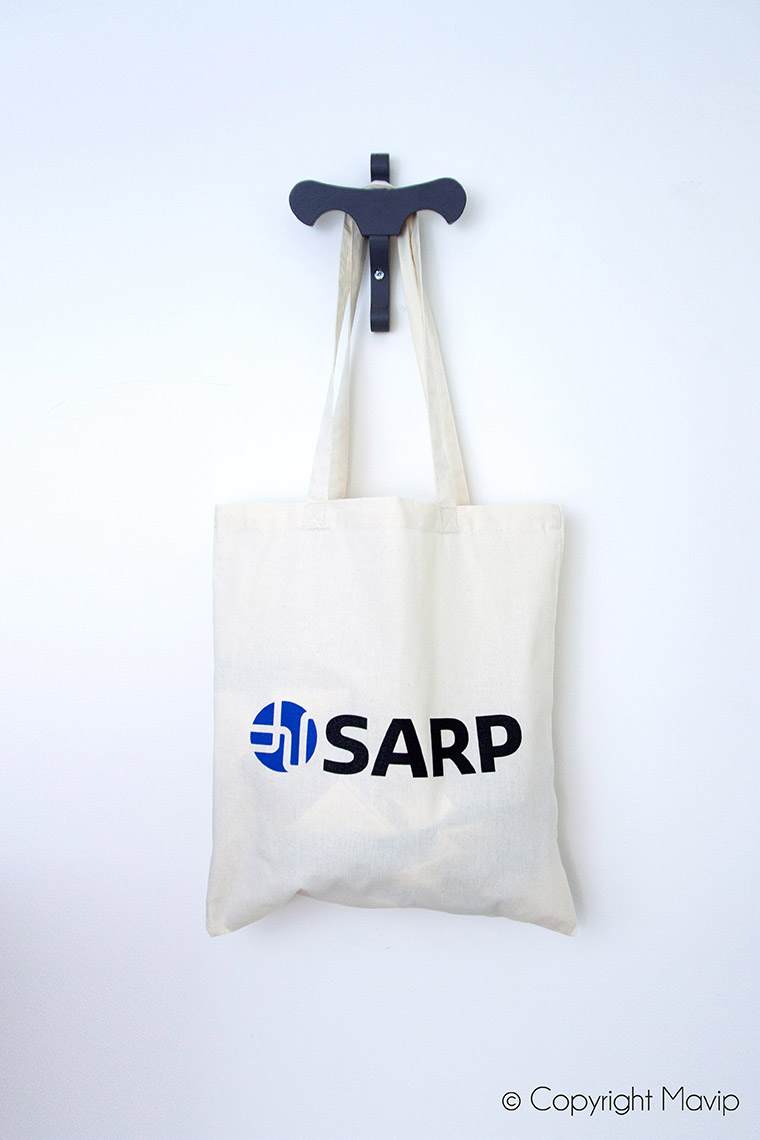 Tote bags logoté sérigraphie par Mavip