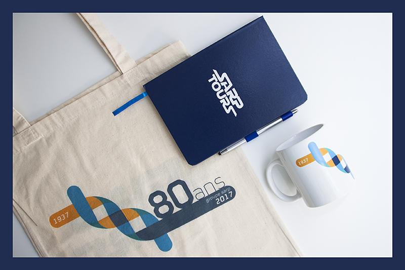 Kit d'objets publicitaires réalisé pour SARP par Mavip