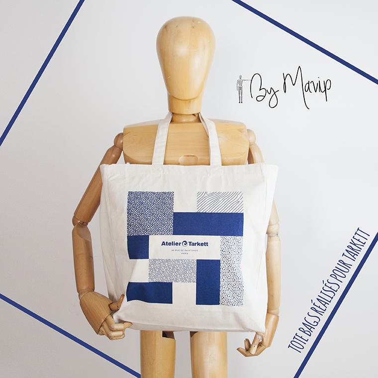 tote-bag personnalisé avec une impression quadri logo