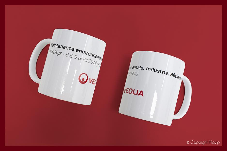 Mugs réalisés pour Véolia par Mavip
