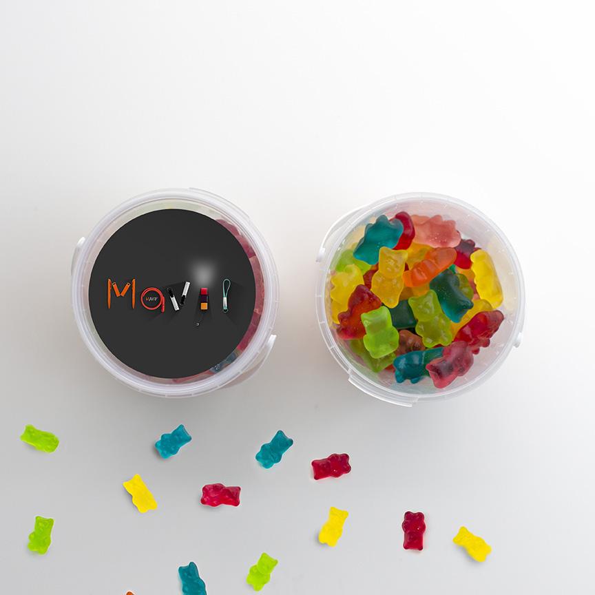 Sceau de bonbons personnalisable avec votre logo ou visuel full impression all over