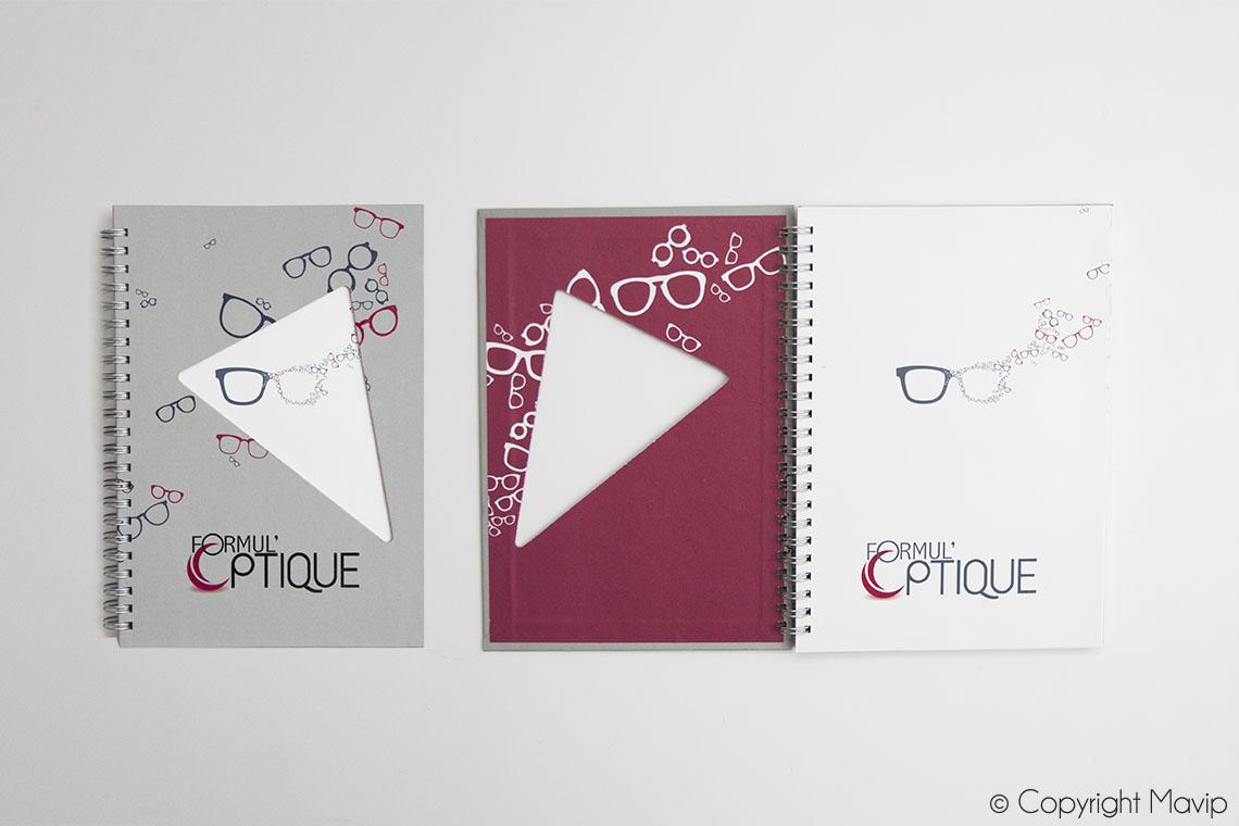 Carnets 100% personnalisables avec logo ou visuels réalisés par Mavip