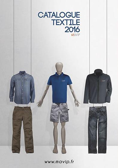 Couverture de catalogue textile 2016