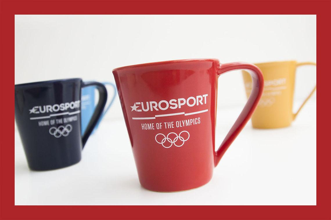 Mugs personnalisés pour Eurosport par Mavip