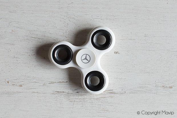 Hand spinner personnalisables avec logo réalisés pour Mercedes par Mavip