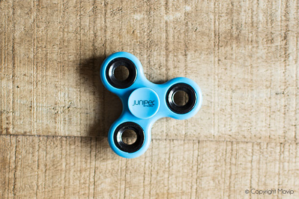 Hand spinner personnalisables avec logo réalisés pour jumper networks par Mavip