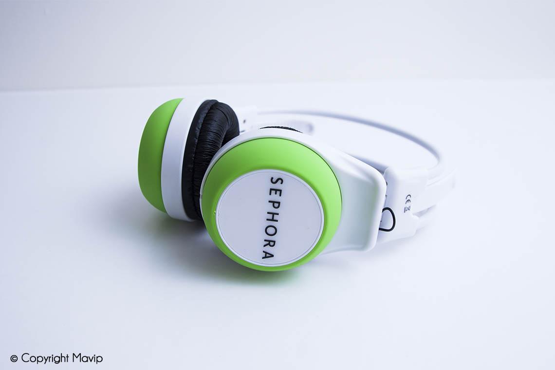 Casques audio bluetooth réalisés pour Sephora par Mavip
