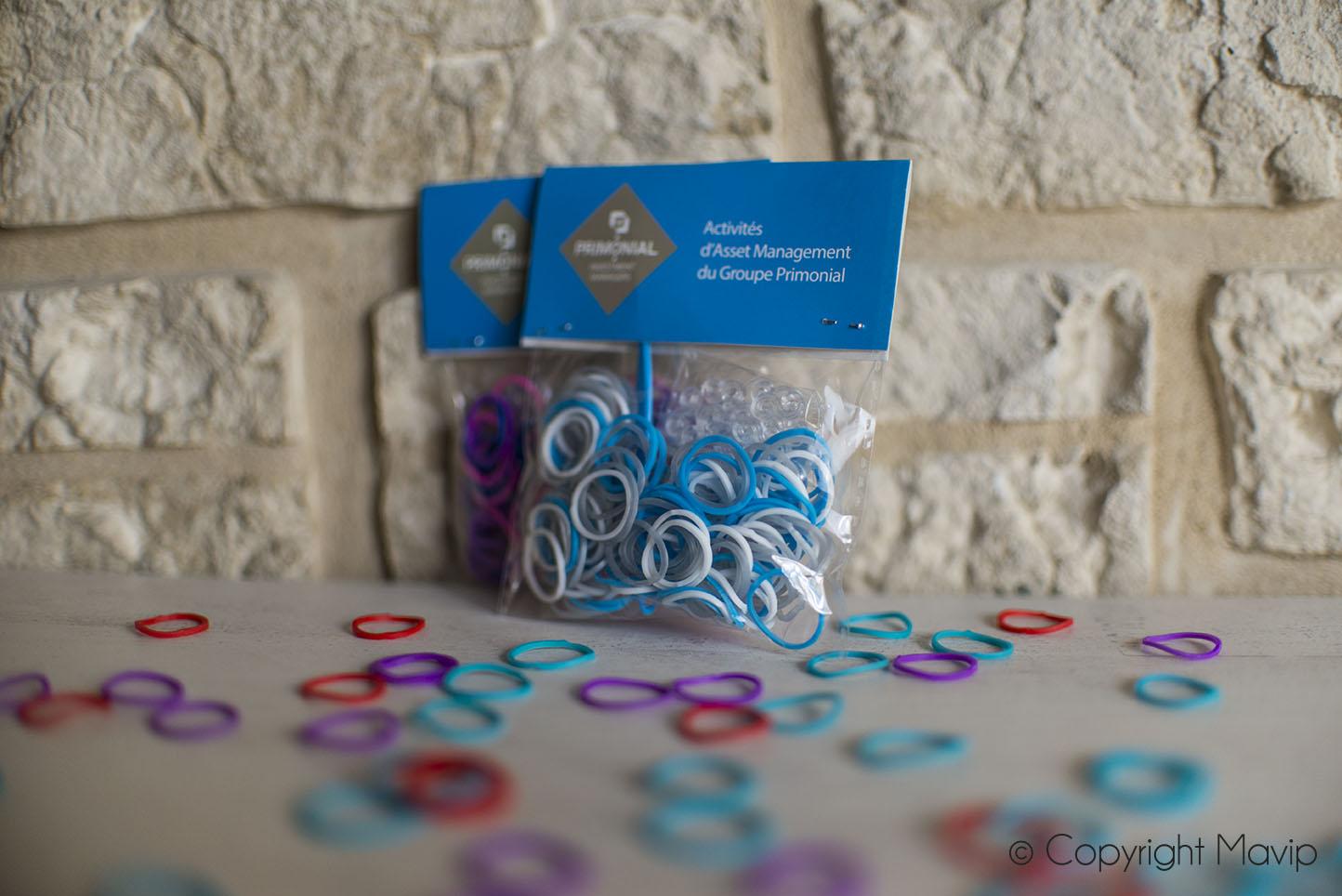 sachets élastiques personnalisables avec logo réalisés par Mavip