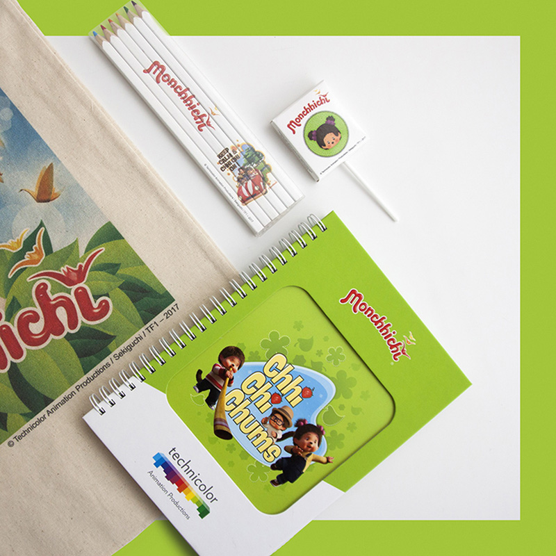 Kit d'objets publicitaires réalisé pour Technicolor par Mavip