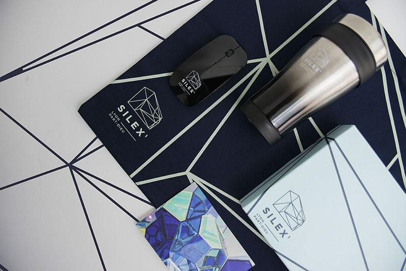 Kit d'objets publicitaires réalisé pour Silex par Mavip