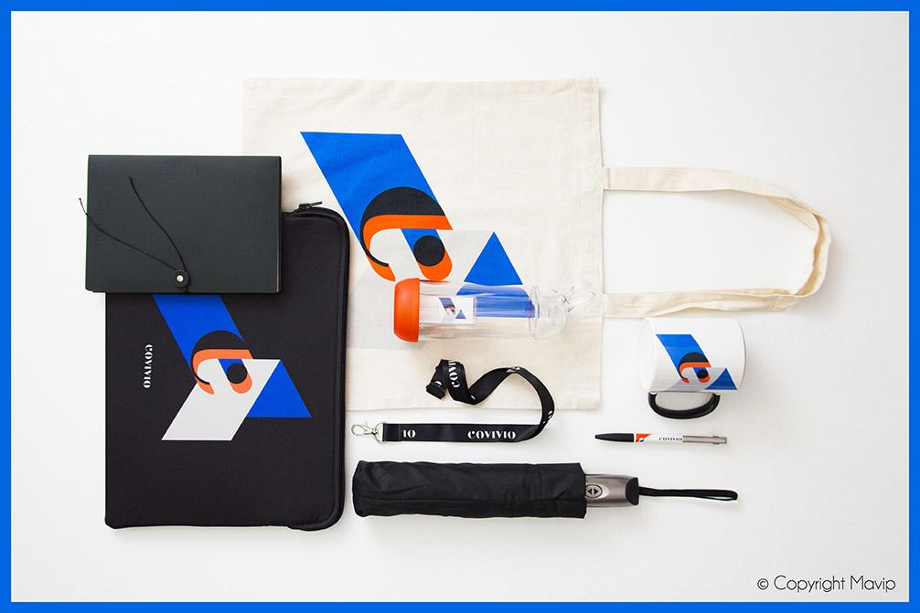 Kit d'objets médias réalisés pour Covivio par Mavip