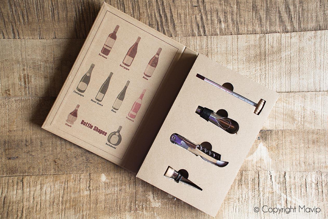Sets de vin personnalisables avec logo réalisés pour YARA par Mavip
