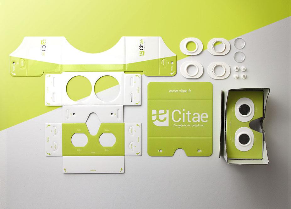 Lunettes 3D à monter personnalisables avec logo réalisées pour CITAE par Mavip