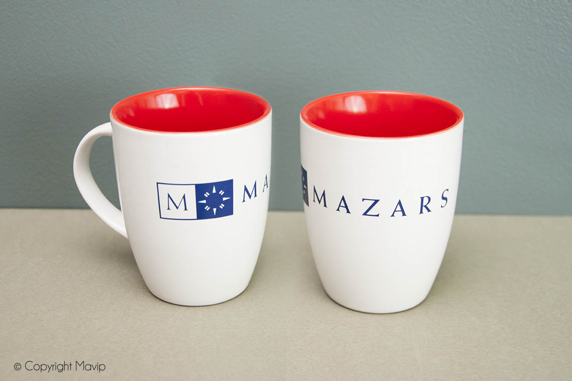 Mugs réalisés pour Mazars par Mavip