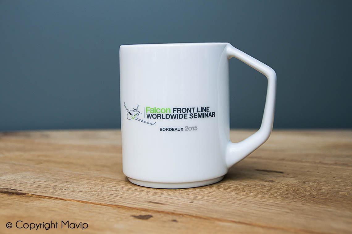 Mugs personnalisables réalisés pour Dassault avec impression totale