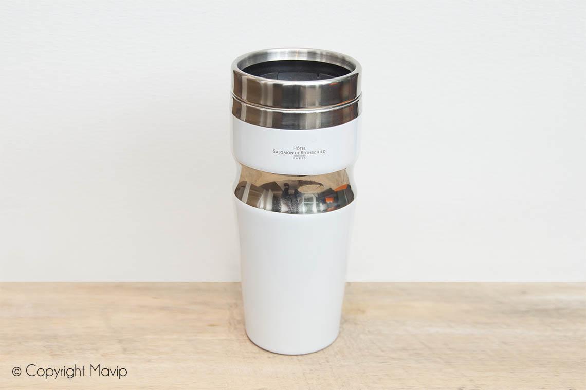 Mugs personnalisables réalisés pour Hotel Salomon de Rothschild par Mavip