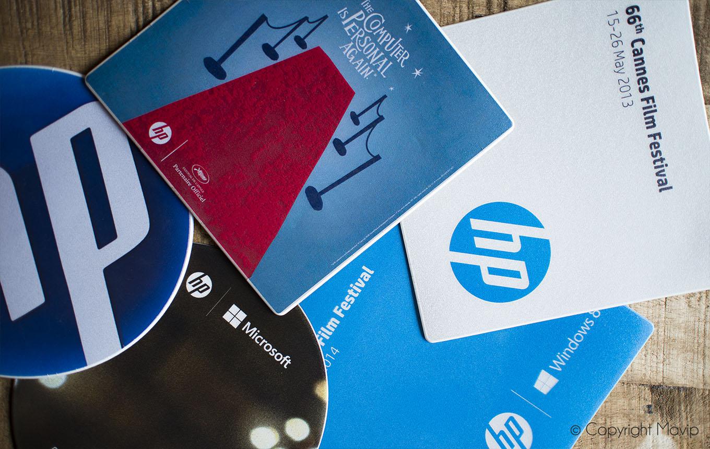 Tapis à souris personnalisables avec logo réalisés par Mavip