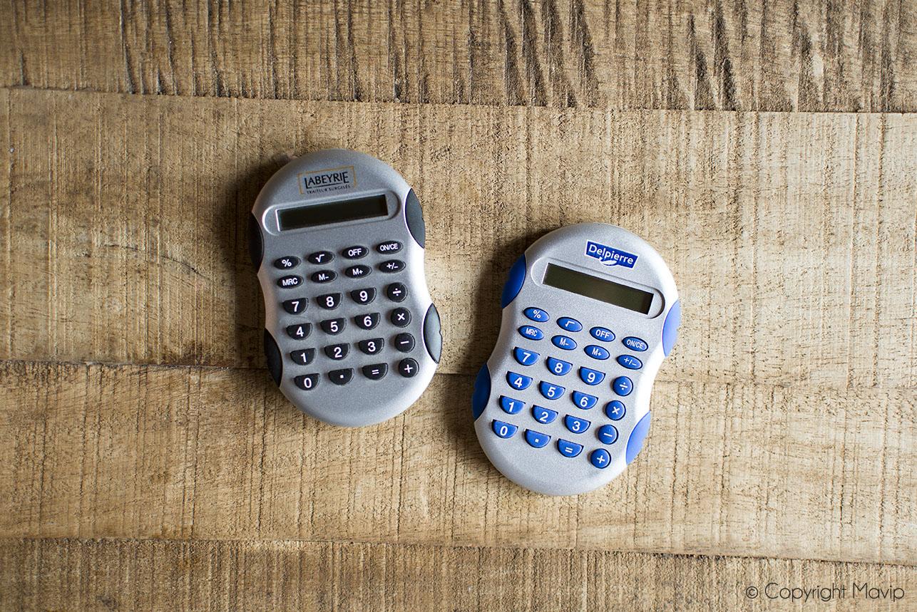 Calculatrices personnalisées réalisées pour Labeyrie par Mavip
