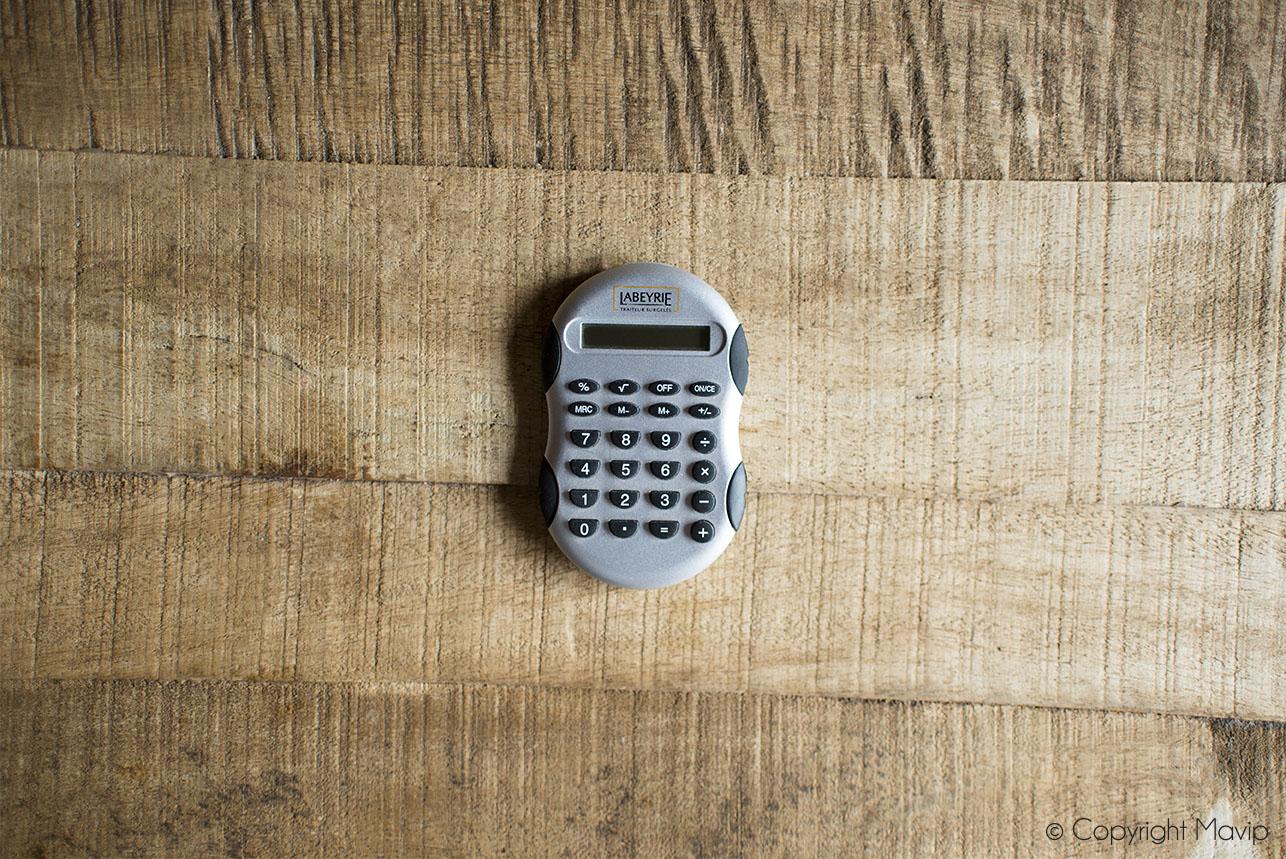 Calculatrices personnalisées avec logo réalisées pour Labeyrie par Mavip