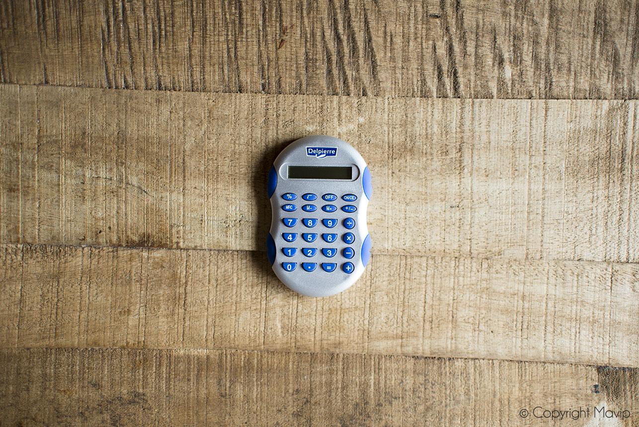 Calculatrices personnalisables avec logo réalisées pour Delpierre par Mavip