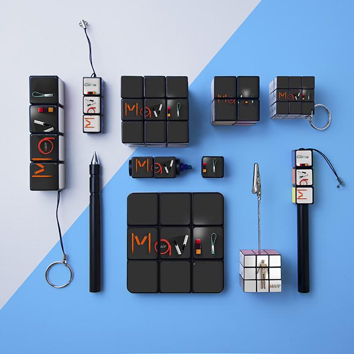 Collection d'objets publicitaire de la famille Rubik's cube personnalisable