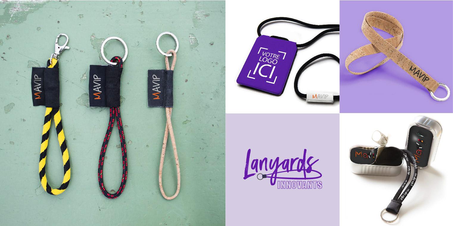 Original Lanyards innovants personnalisés à votre image et logo
