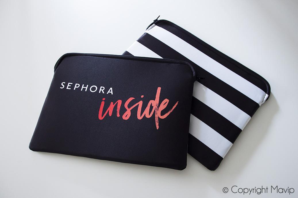 Pochettes d'ordinateurs portables personnalisables avec logo en full impression totale réalisées pour Sephora par Mavip