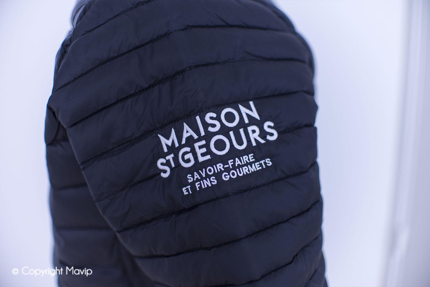 Doudoune textile publicitaire réalisée par Mavip
