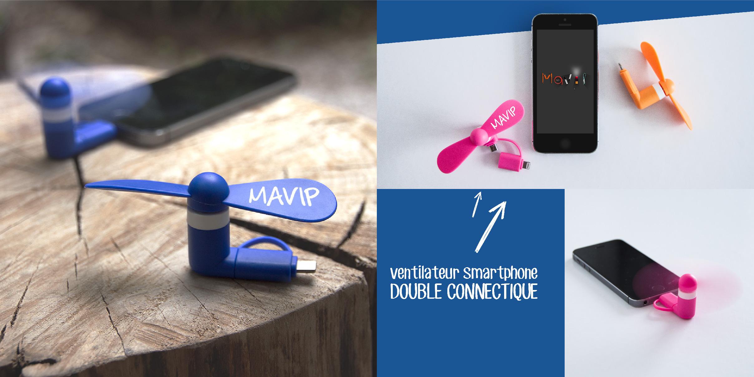 Ventilateurs pour smartphones avec double connectique iphone galaxy