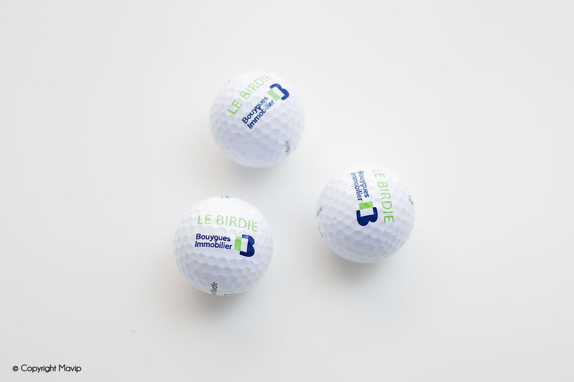 Balles de golf publicitaires réalisées par Mavip