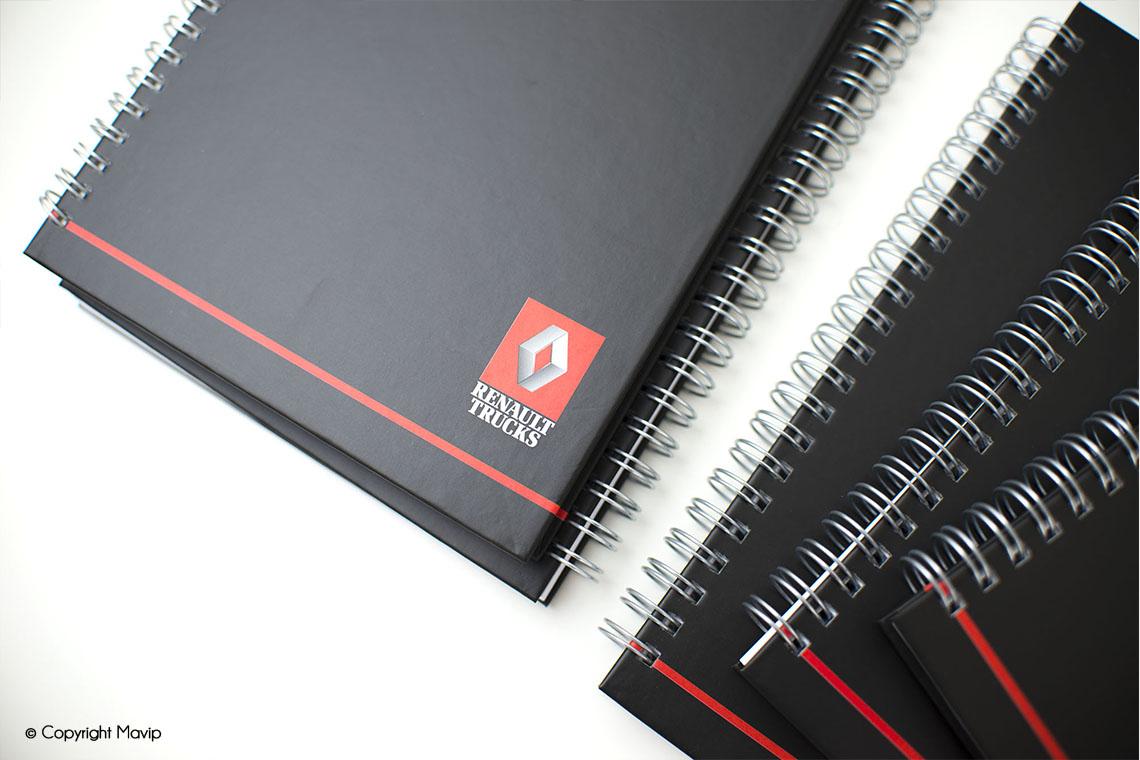 Carnets à spirales publicitaires réalisés par Mavip