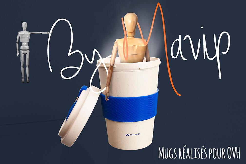 Mugs réalisés pour OVH par Mavip