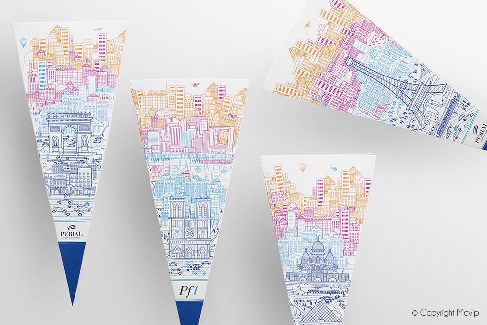 Pochettes surprise personnalisées avec logo entreprise Perial par Mavip