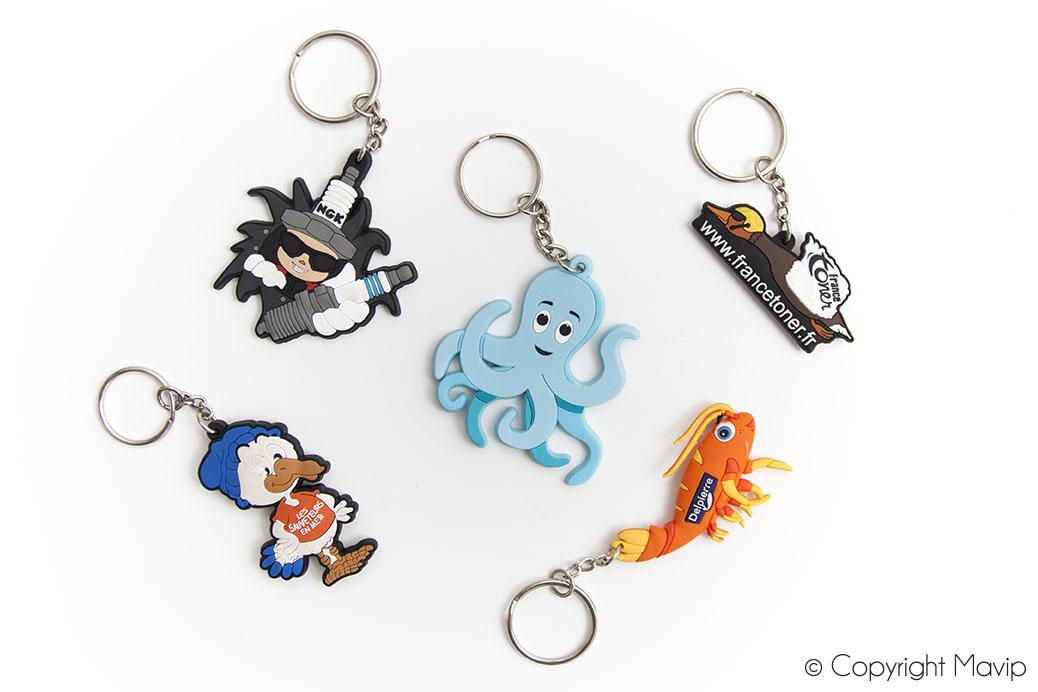 Porte-clés personnalisables à la forme ou avec logo réalisés par Mavip