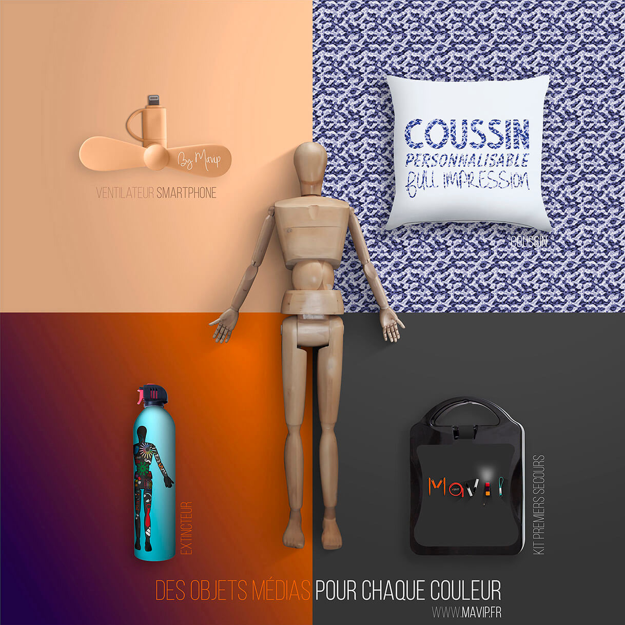 Des objets médias pour chaque couleurs