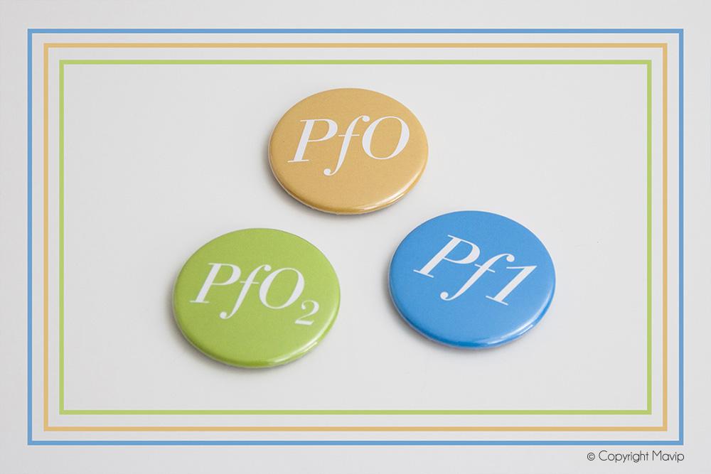 Badges personnalisés avec logo entreprise Perial by Mavip