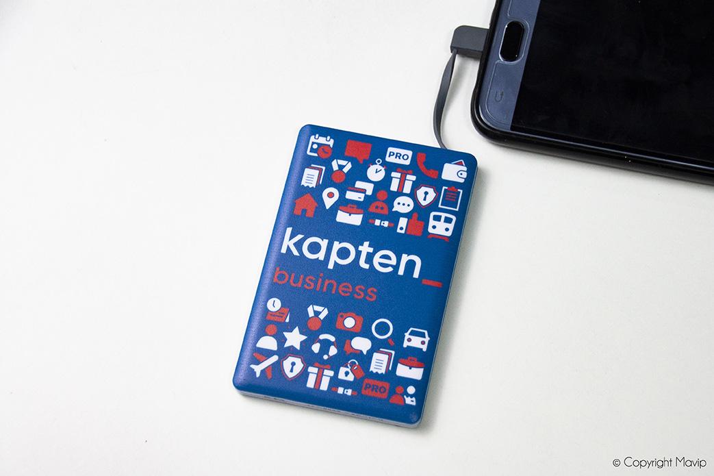 Chargeur nomade réalisé pour Kapten par Mavip