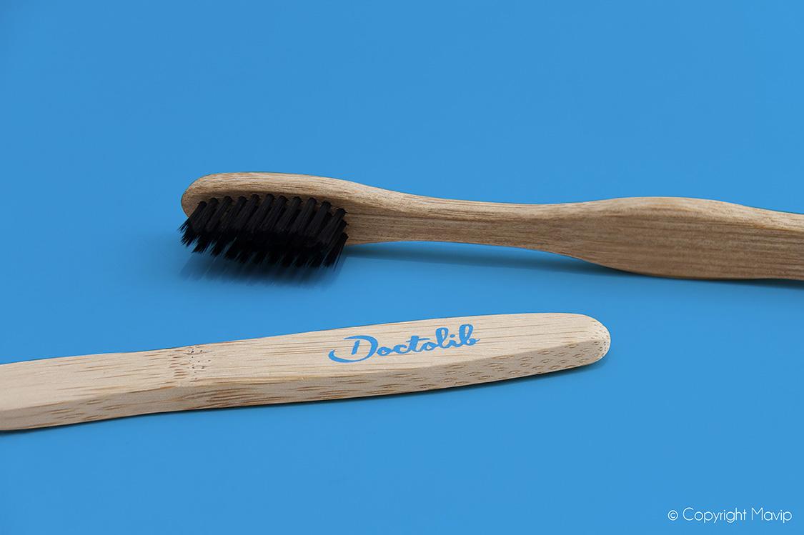Brosse à dents réalisées pour Doctolib par Mavip