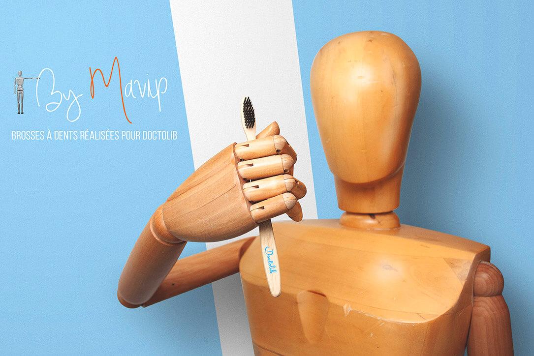 Brosses à dents réalisées pour Doctolib par Mavip