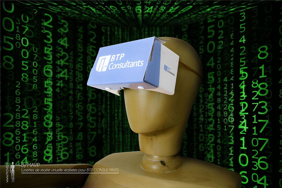 Lunettes de réalité virtuelle réalisées pour BTP par Mavip