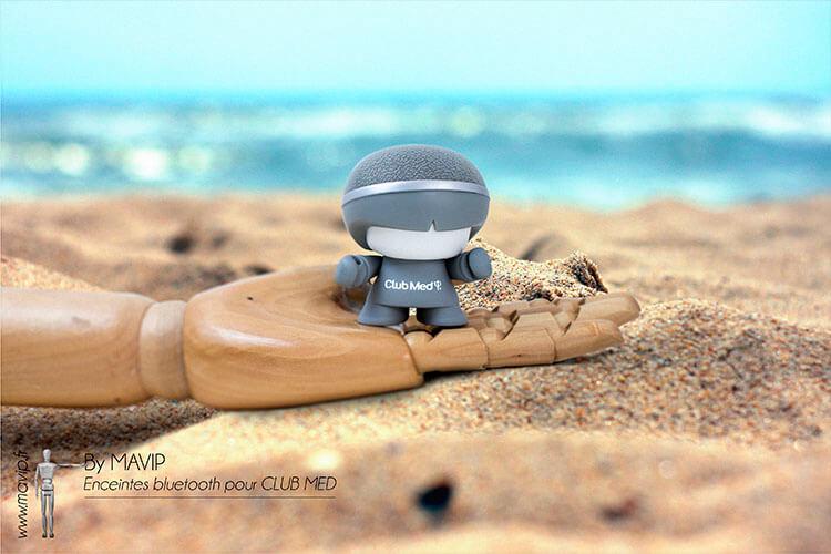 Enceintes bluetooth mini Xboy réalisées pour Club Med par Mavip