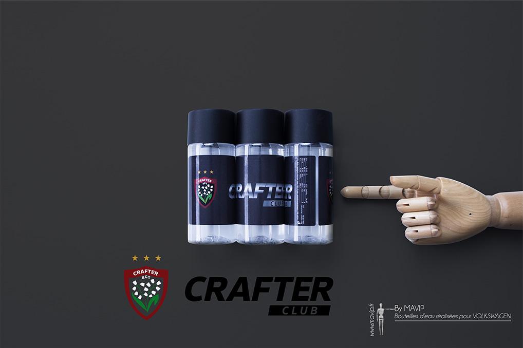 Bouteilles réalisées pour Crafter Club par Mavip